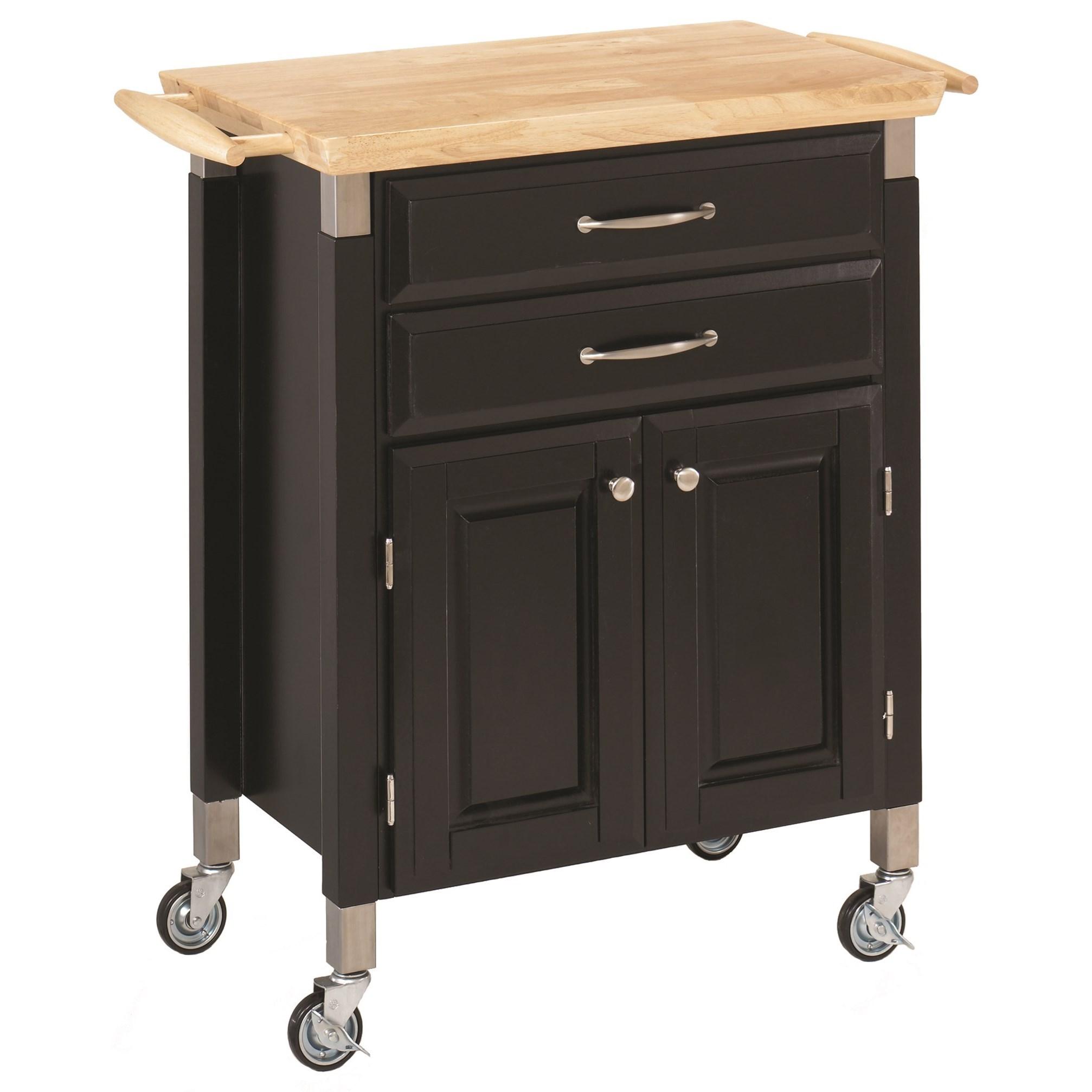 Homestyles Blanche Kitchen Cart Dunk Bright Furniture Kitchen Islands
