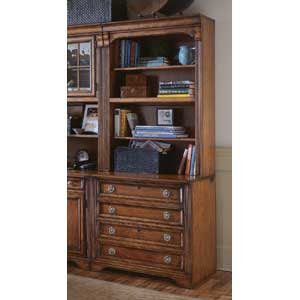 Hooker Furniture Brookhaven Bookcase w/Lateral File Base