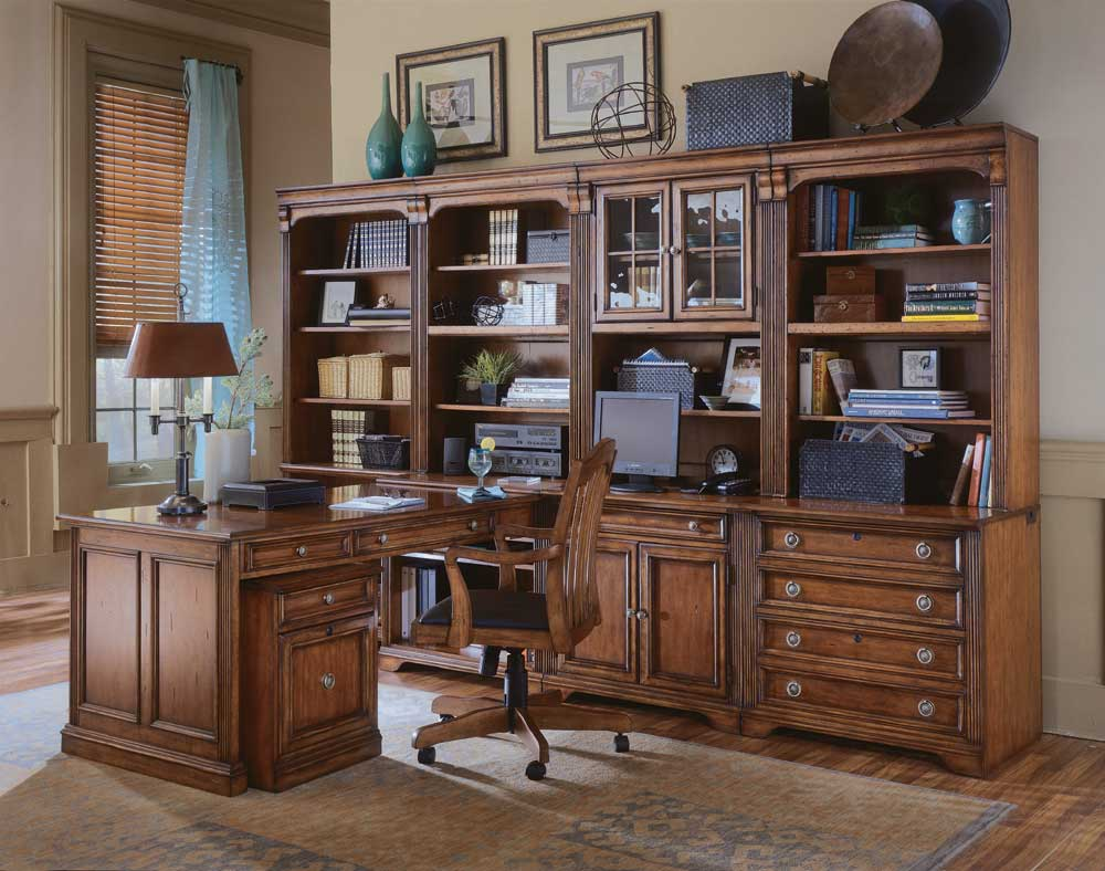 Hooker Furniture Brookhaven Modular Office Collection - Item Number: 10417+11+12+19+10+16+22+211-281