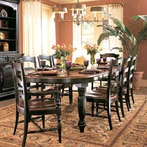 Hooker Furniture Indigo Creek Oval Dining Table