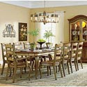 Hooker Furniture Vineyard Rectangle Dining Table with Two 18
