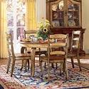 Hooker Furniture Vineyard 5 Piece Dining Set - Item Number: 478-75-201+4x310
