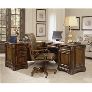 "Hamilton Home Brookhaven Executive ""L"" Return Desk"