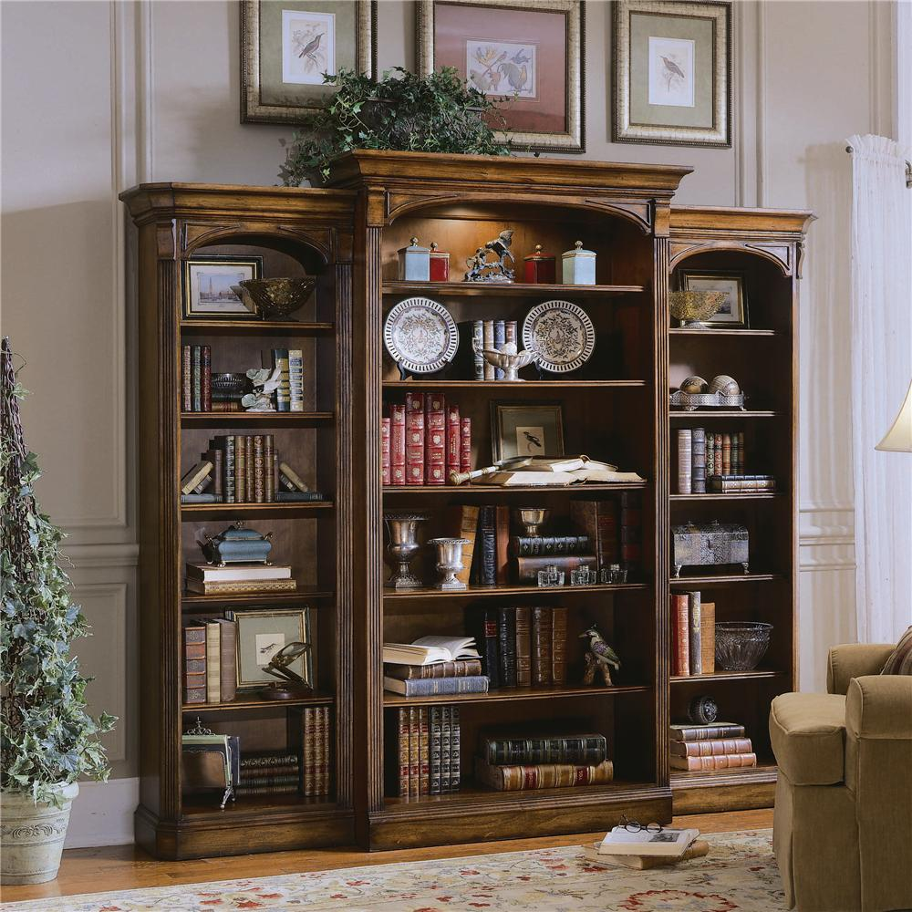 Hooker Furniture Brookhaven Open Bookcase - Item Number: 281-10-541+542+545