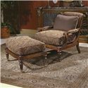 Century Century Chair Cromwell Chair and Ottoman - Item Number: 3206+O
