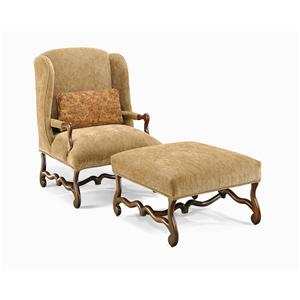 Century Century Chair Confessional Wing Chair and Ottoman