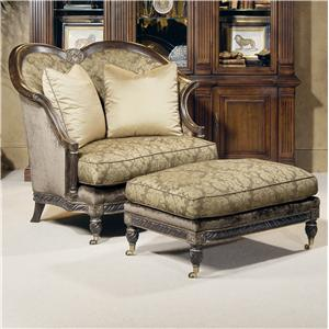 Century Century Chair Woodbury Chair and Ottoman