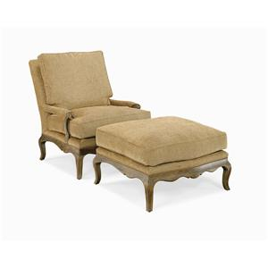 Century Century Chair Country French Chair and Ottoman