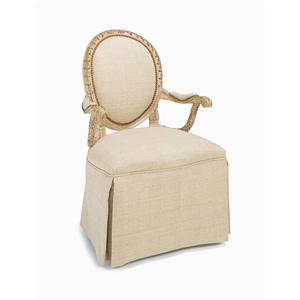 Century Century Chair Skirted Upholstered Back Chair