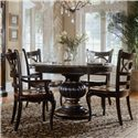Hooker Furniture Preston Ridge Dining Table and Chairs - Item Number: 864-75-201+310x3+300