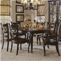 Hooker Furniture Preston Ridge Round Leg Table and Oval Back Dining Chairs