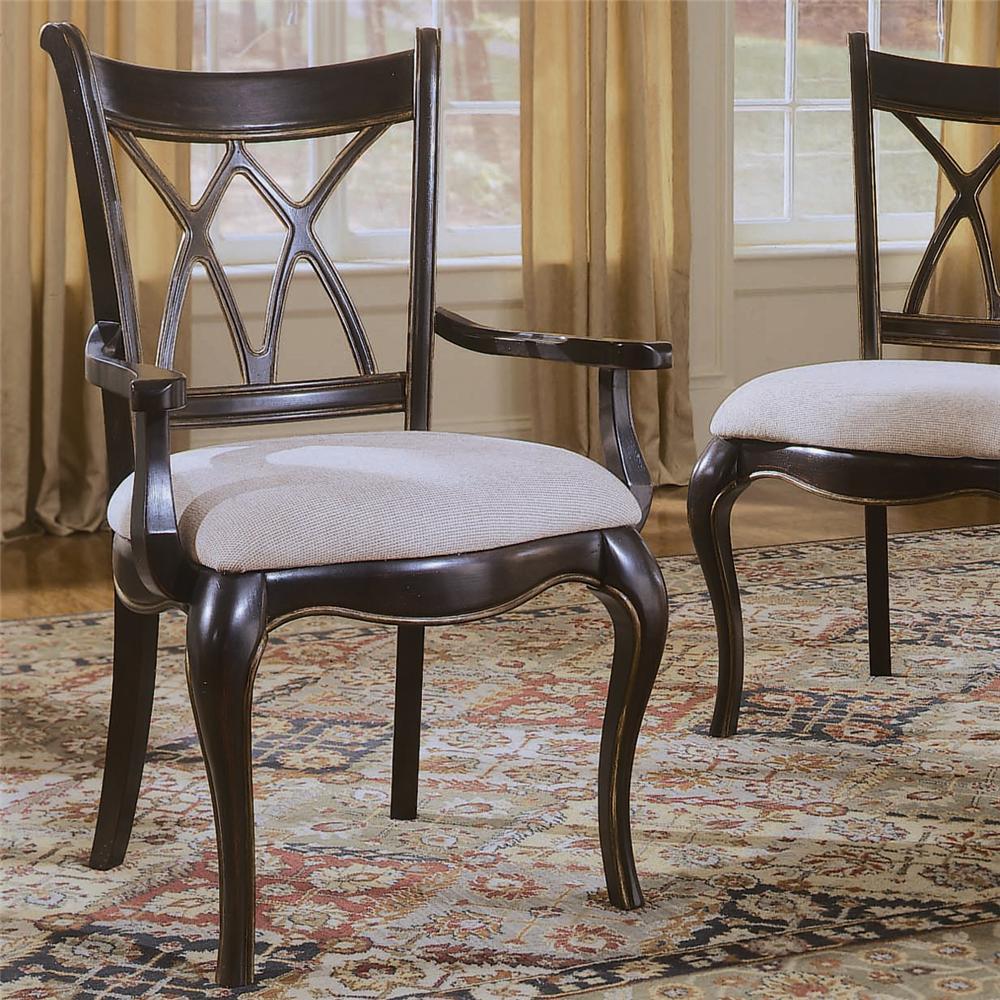 Hooker Furniture Preston Ridge X Back Dining Arm Chair - Item Number: 864-75-400