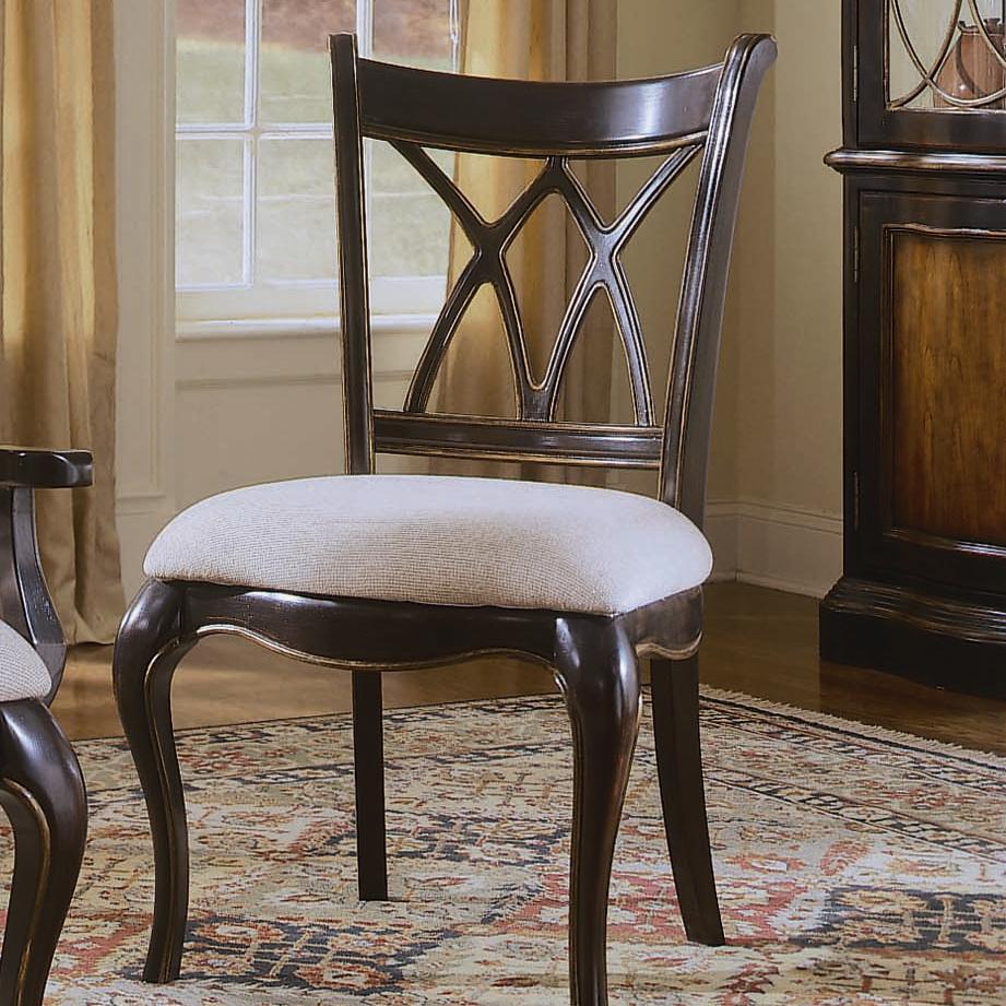Hooker Furniture Preston Ridge X Back Side Dining Chair - Item Number: 864-75-410