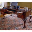 Hooker Furniture 434 Ball and Claw Writing Desk - Open Storage Features