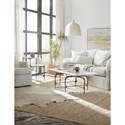 Hooker Furniture 5633-80 Contemporary Skinny Rectangle Cocktail Table with Marble Top