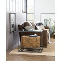 Hooker Furniture 5645-80 Contemporary Chairside Table with Cork Shelf