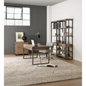 Hamilton Home 5681-10 Industrial Style Metal/Wood Bookcase with One Drawer
