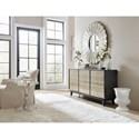 Hooker Furniture 5716-85 Glam Shimmer Three-Door Credenza with Adjustable Shelves