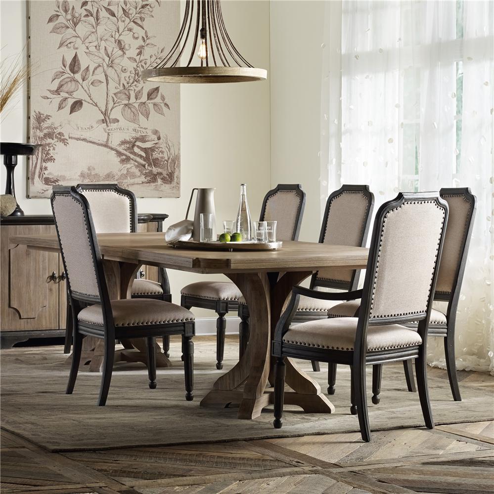 Hooker Furniture Corsica 5Pc Dining Room - Item Number: 5180-75206+5280-75411