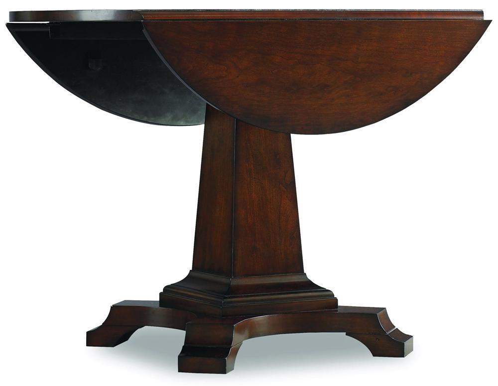 Hooker Furniture Abbott Place Round Drop Leaf Pedestal Table - Item Number: 637-75-203