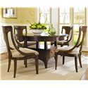 Hooker Furniture Abbott Place Round Dining/Counter Height Table - 637-75-234 - Shown Dining Height with Sling Back Chairs