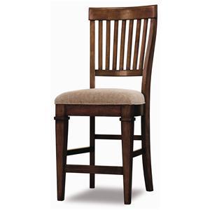 Hooker Furniture Abbott Place Slat Back Counter Stool