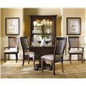 Hooker Furniture Abbott Place 52 Inch China Cabinet - 637-75-908 - Shown with Drop Leaf Table & Chairs
