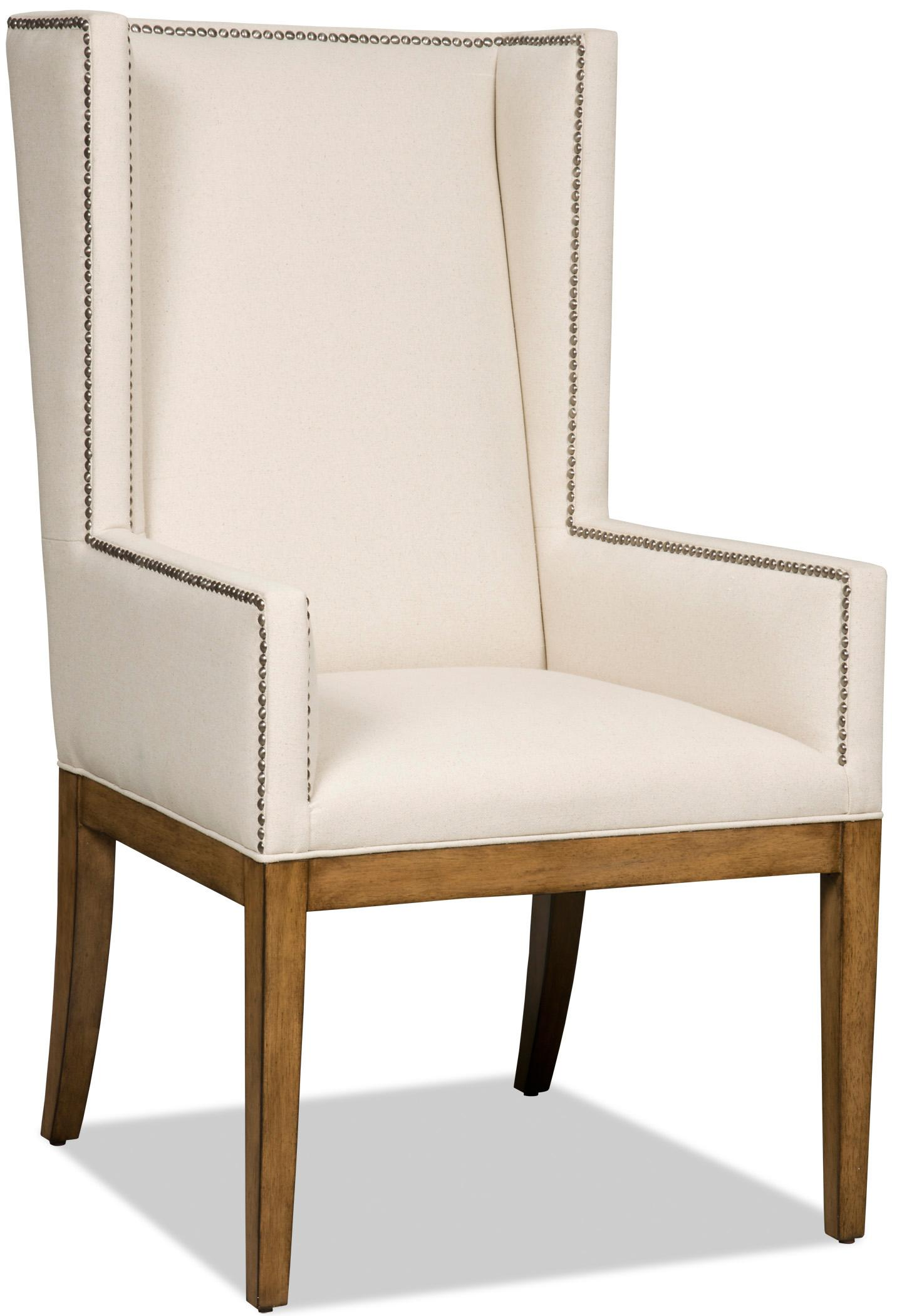 Hamilton Home Dining Chairs Upholstered Dining Chair with Wing