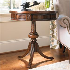Hooker Furniture Living Room Accents Round Pedestal Accent Table