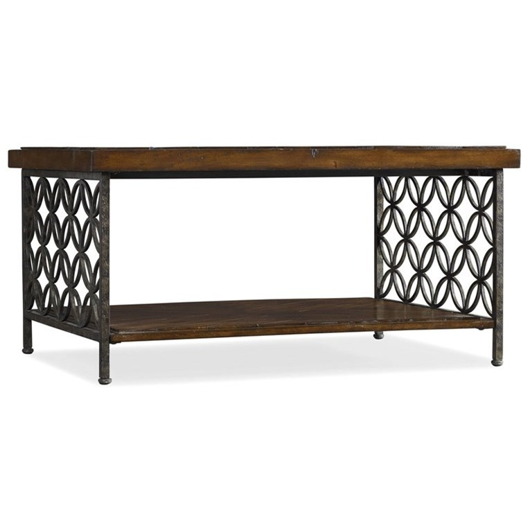 Hooker Furniture Living Room Accents Cocktail Table with Patterned Iron - Item Number: 5092-50001