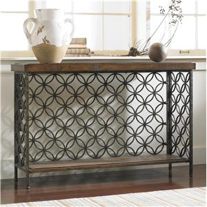 Hooker Furniture Living Room Accents Console Table with Patterned Iron