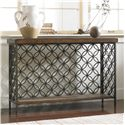 Hooker Furniture Living Room Accents Console Table with Patterned Iron - Item Number: 5092-85001