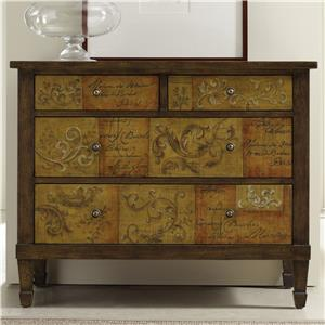 Hooker Furniture Living Room Accents Scroll and Script Drawer Chest