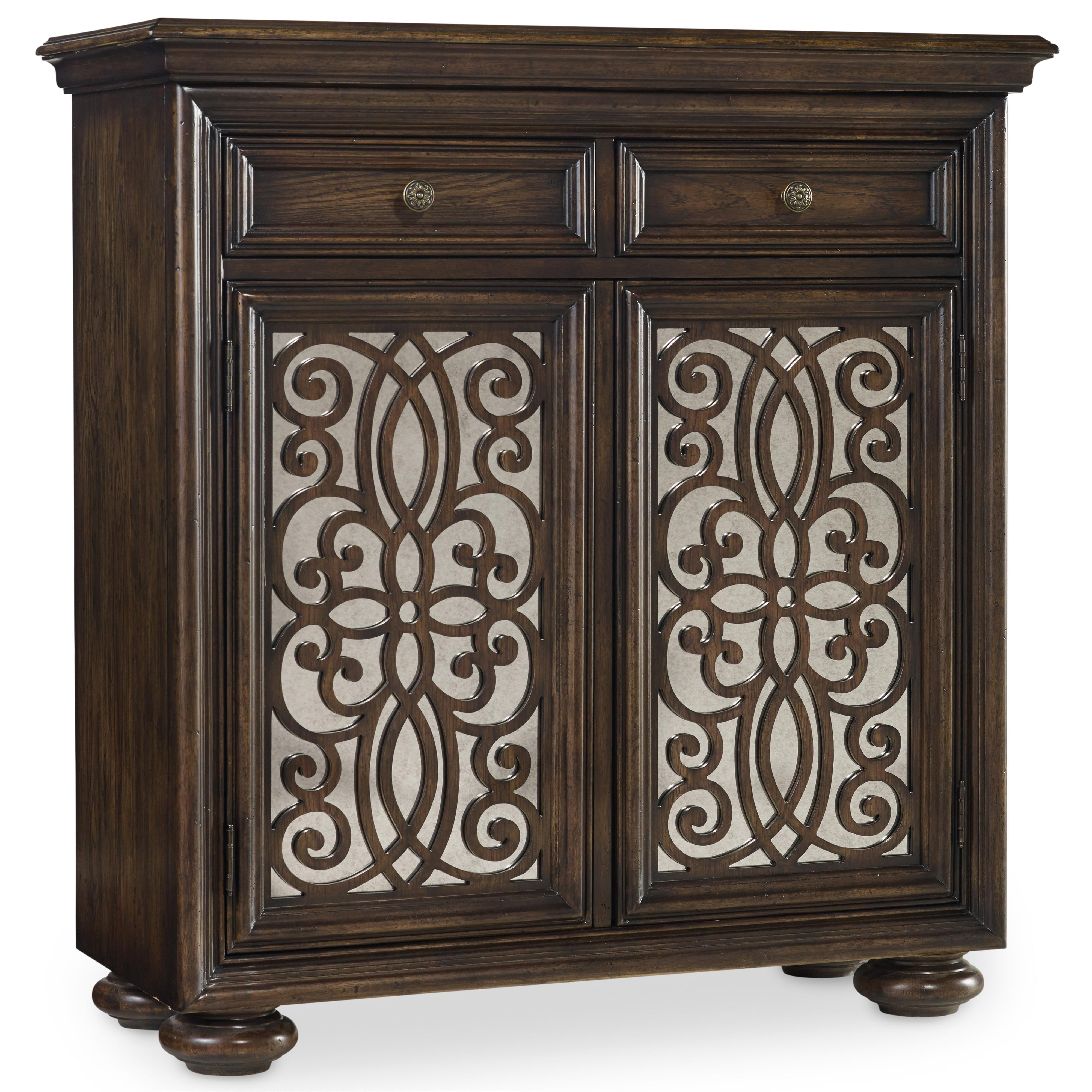 Living Room Accents 2 Door Fretwork Chest with Mirrored Doors by Hooker Furniture  sc 1 st  Find Your Furniture & Hooker Furniture Living Room Accents 2 Door Fretwork Chest with ...