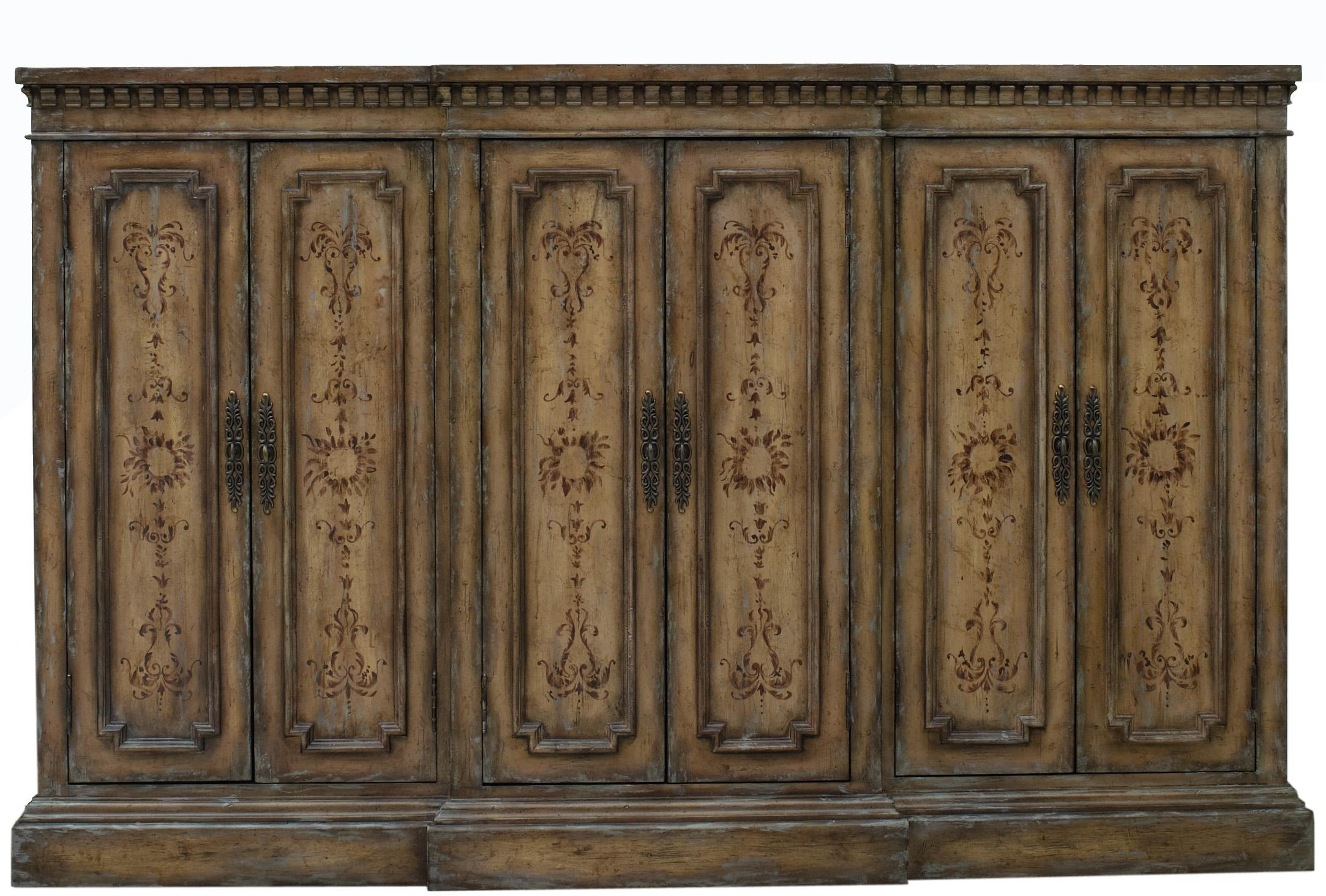 Hooker Furniture Living Room Accents Grand Credenza with Breakfront ...