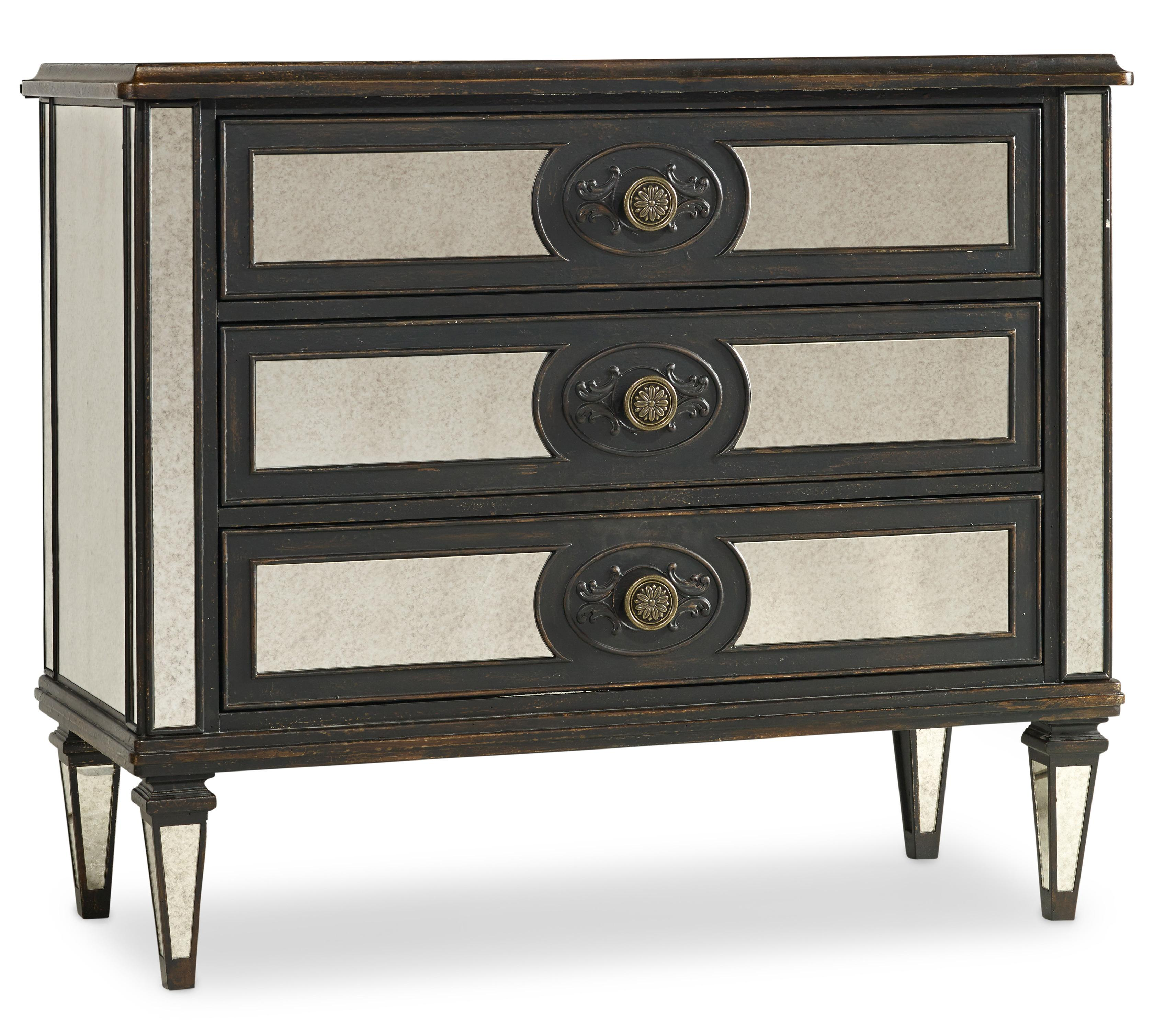 Hooker Furniture Living Room Accents Mirror Accented Chest - Item Number: 5218-85001