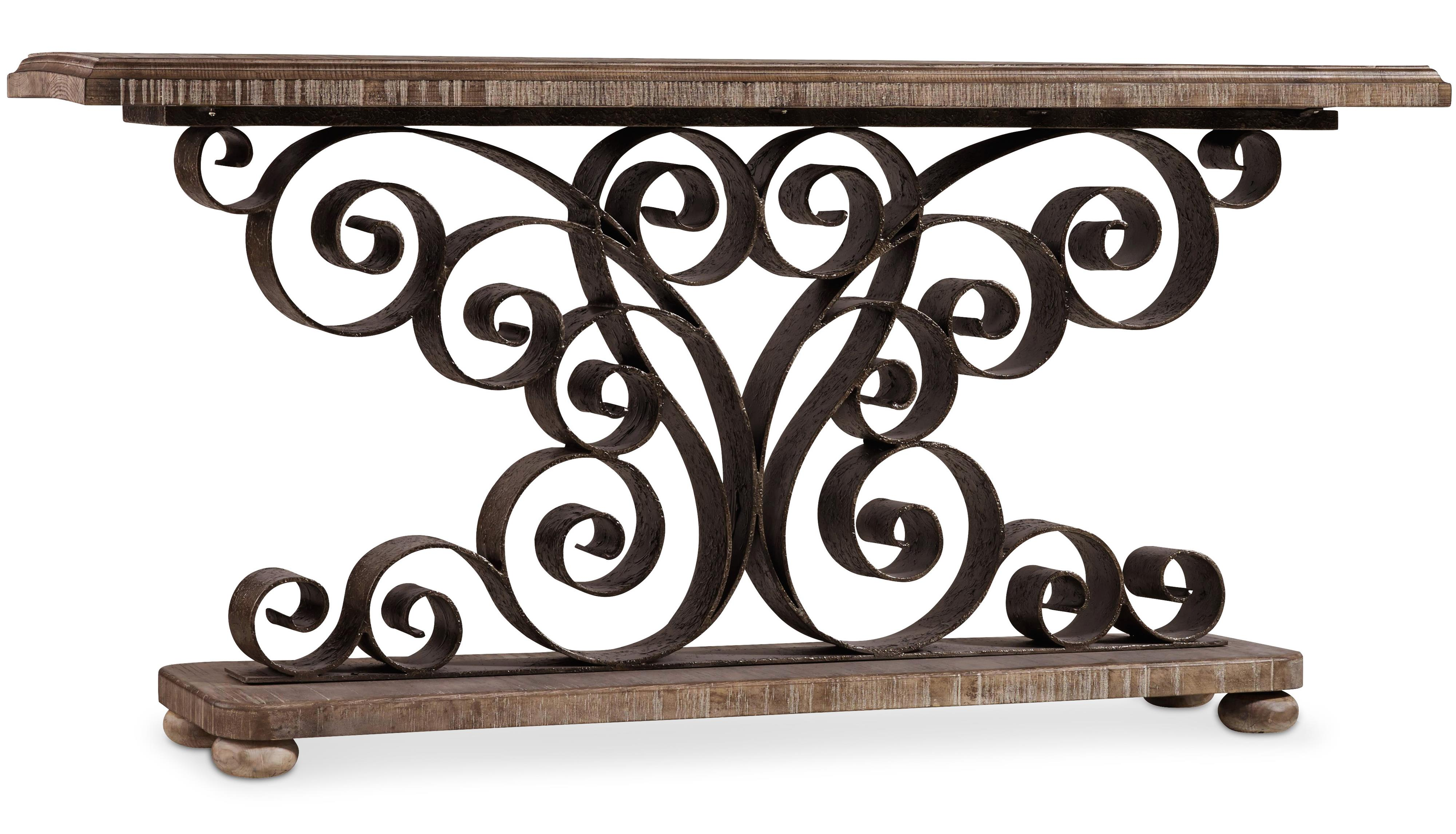 Hooker Furniture Living Room Accents Metal Scroll Console  - Item Number: 5321-85001