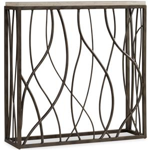 Hooker Furniture Living Room Accents Thin Metal Console
