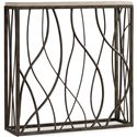 Hooker Furniture Living Room Accents Thin Metal Console - Item Number: 5373-85001