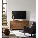 Hooker Furniture Living Room Accents 64 Inch Entertainment Console with Touch Latch Doors