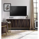 Hooker Furniture Living Room Accents Sleek 3-Door 64 Inch Entertainment Console