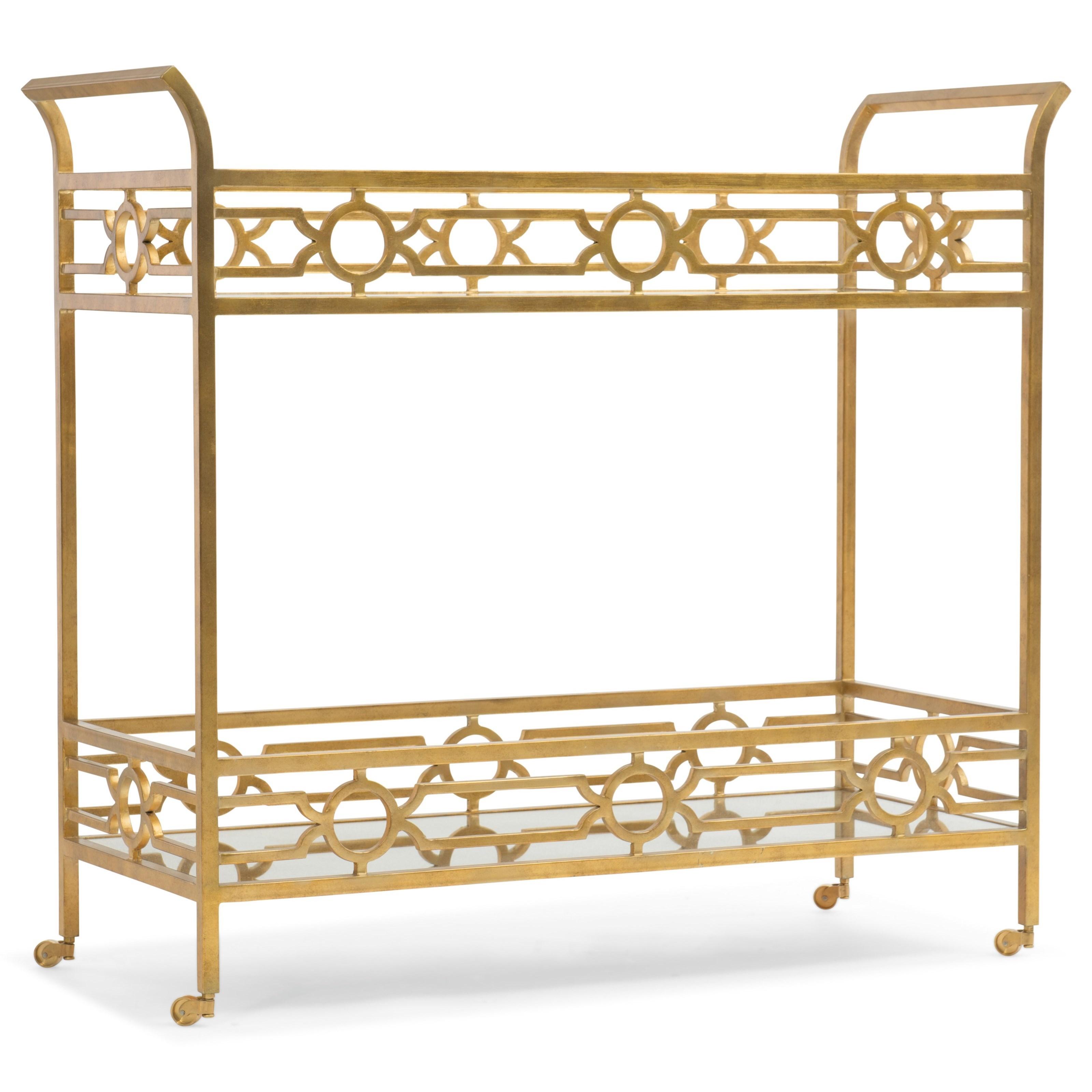Hooker Furniture Living Room Accents Serving Cart - Item Number: 5535-50001-MTL