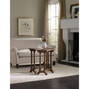 Hooker Furniture Living Room Accents Traditional Nesting Tables