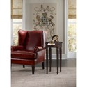 Hooker Furniture Living Room Accents Square Chairside Table with Wood-Framed Leather Pullout Shelf