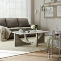 Hooker Furniture Living Room Accents Cocktail Table with Marble Top