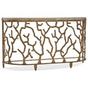 Hooker Furniture Living Room Accents Coral Console - Item Number: 5577-85001-GLD