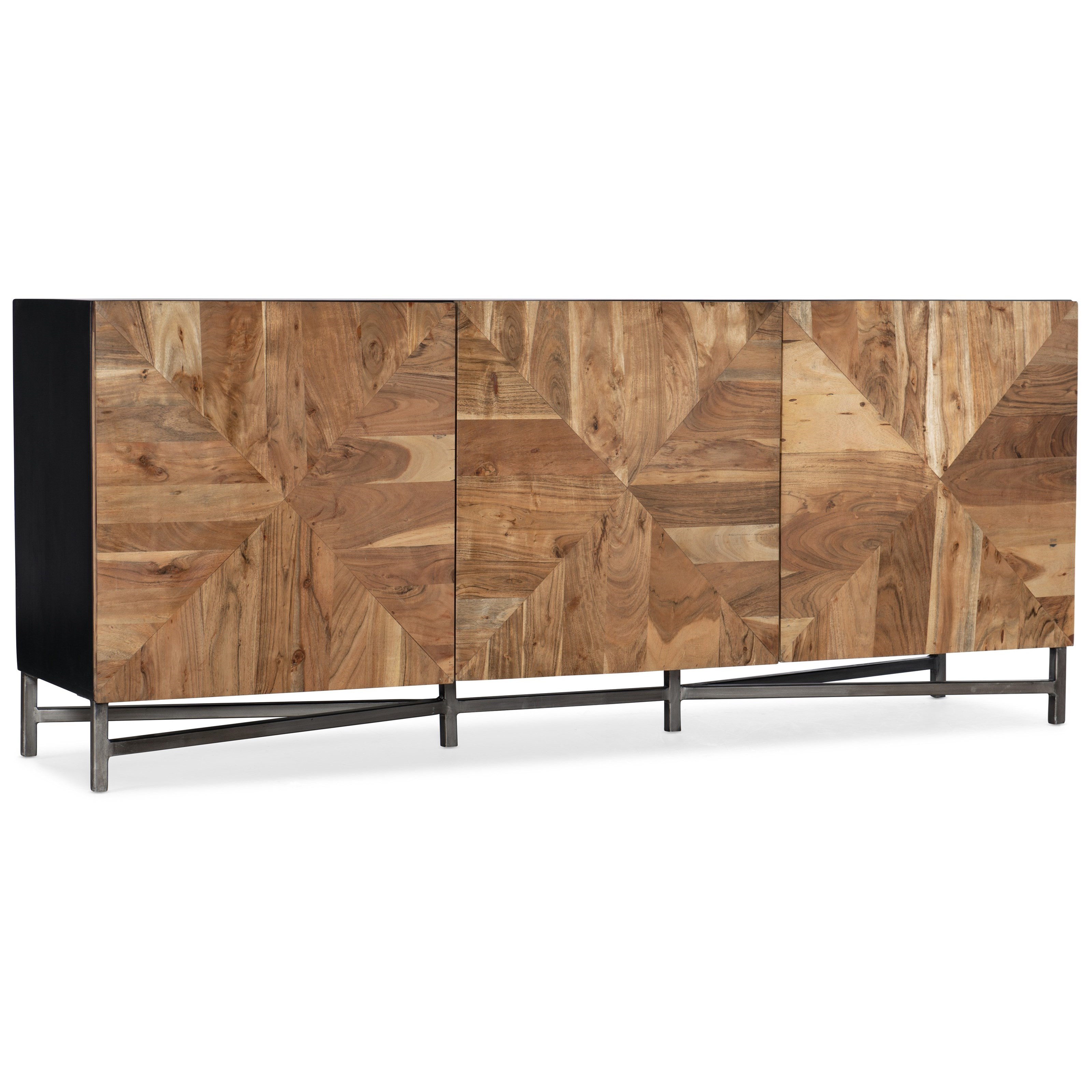 Living Room Accents Ely Entertainment Console by Hooker Furniture at Zak's Home
