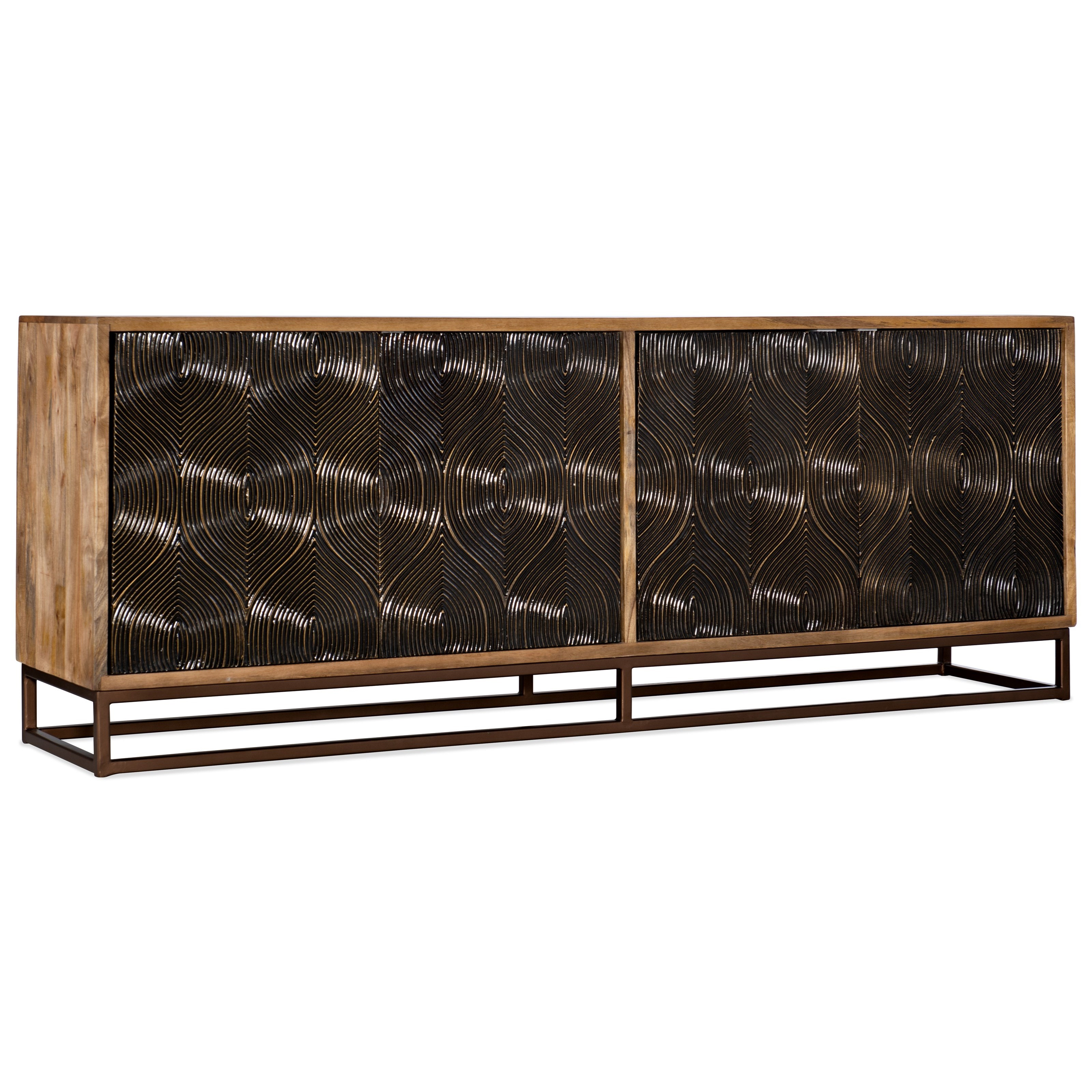 Living Room Accents Swirl Door Entertainment Console by Hooker Furniture at Alison Craig Home Furnishings