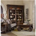 Hooker Furniture Adagio Double Bookcase with Ladder and Rail and Touch Lighting - 5091-10225