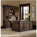 Hooker Furniture Adagio Computer Credenza with Hutch and Power Bar - 5091-10464+67